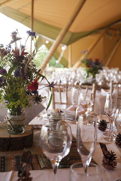 festival style tipi wedding