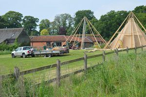 Putting up tipis