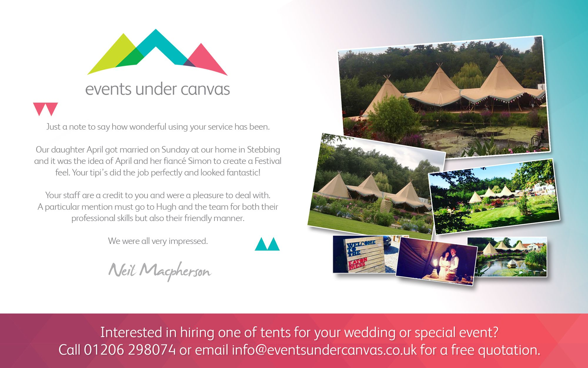 Tipi Tent Hire Review - Tents supplied from Essex throughout East Anglia