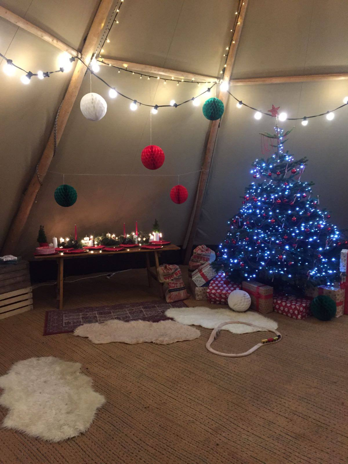 Christmas Tipi Hire A