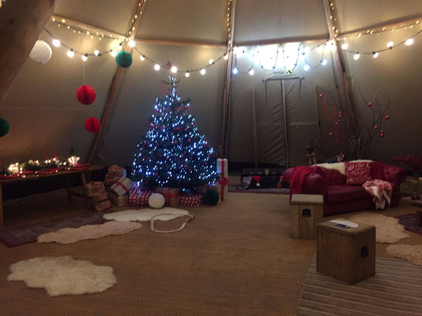 Christmas Tipi Hire D