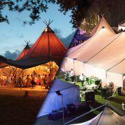 Tipi vs Sailcloth Tent Hire Image