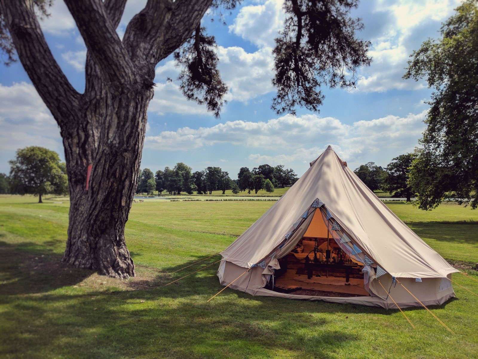 Shakespeare v.i.p glamping at chillham castle