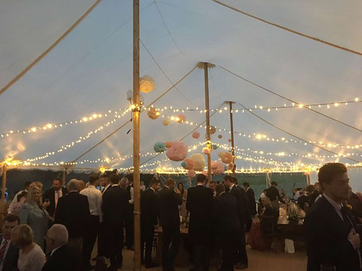 fairy lights in sailcloth