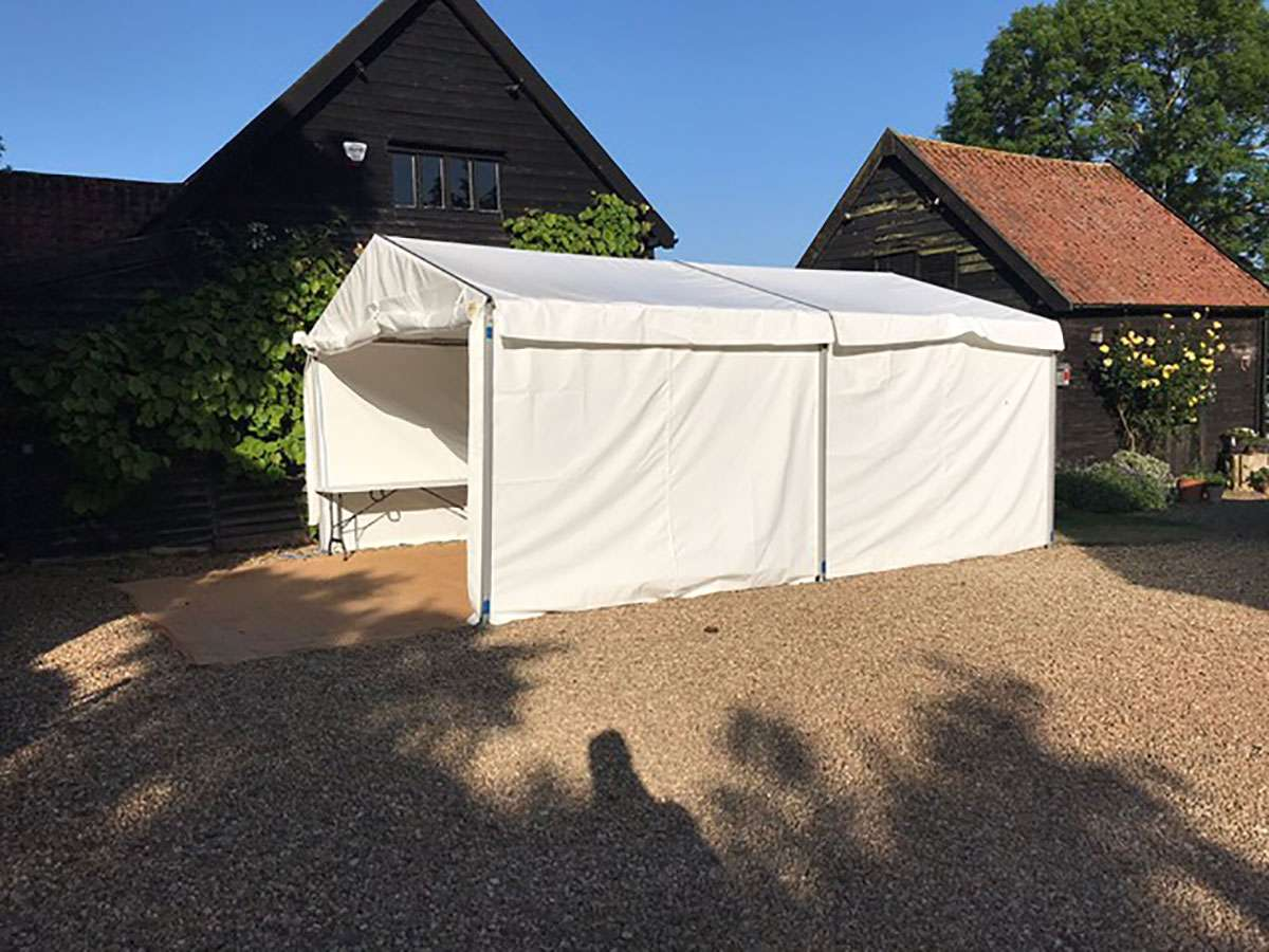 white catering tent for event