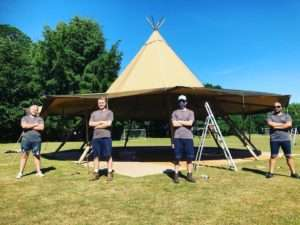 Events Under Canvas team
