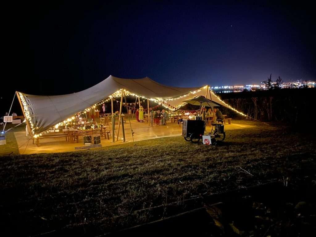 Stretch Tent NightTime
