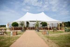Sailcloth Tent with Walkway